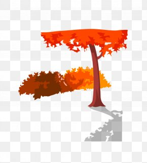 Red Tree - Drawing Trees Woman Clip Art PNG