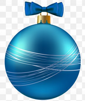 Blue Christmas Ornament Clipart Image - Christmas Ornament Christmas Decoration Clip Art PNG