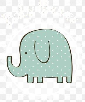 Vector Cute Elephant Tag - Elephant Euclidean Vector PNG
