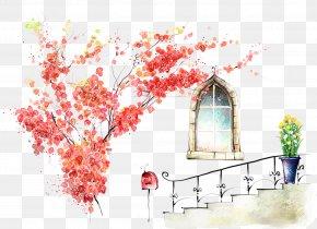 Window Flower - Art Desktop Computer Painting Drawing Wallpaper PNG