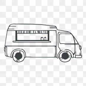 Automotive Artwork - Compact Car Automotive Design Drawing PNG