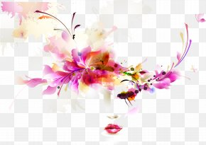 Woman Face - Fashion Visual Design Elements And Principles Abstract Art Woman PNG