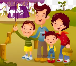 Family Illustration - Family Cartoon Child Illustration PNG