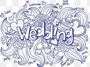 Hand-painted Wedding - Wedding Invitation Ornament Euclidean Vector PNG