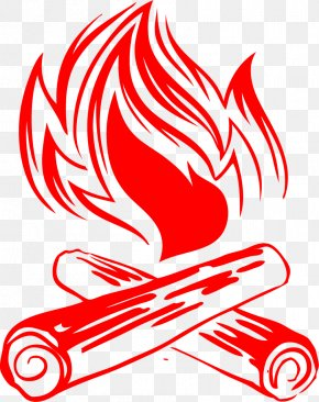 Vector Painted Red Flame - Summer Camp Poster Graphic Design PNG