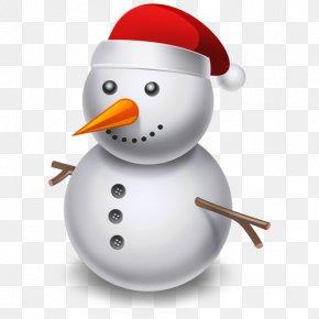 Cartoon Snowman - Santa Claus Christmas Snowman Hat Icon PNG