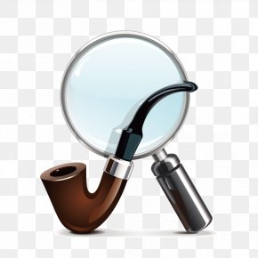 Vector Magnifying Glass And Pipe - Tobacco Pipe Loupe Stock Photography Royalty-free PNG