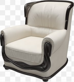 White Armchair Image - Wing Chair Couch Furniture PNG