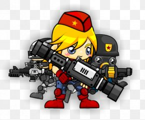 Cartoon Soldier - 2D Computer Graphics Sprite Video Game Animation Character PNG