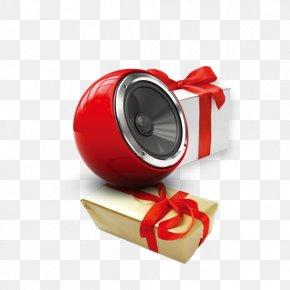 Christmas Gift Small Speaker - Christmas Gift Photography Loudspeaker PNG