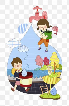 Summer Kids Playing Water - Water Conservation Clip Art Image PNG