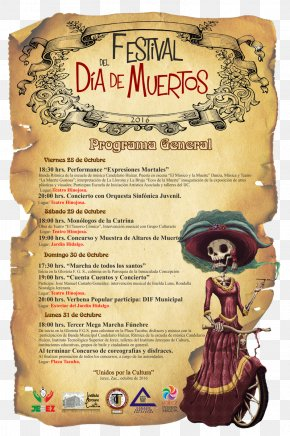 Movie Poster - La Calavera Catrina Poster Death Text Day Of The Dead PNG