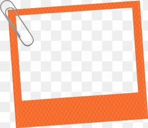 Orange Frame - Picture Frames Orange Photography Clip Art PNG