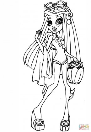 Lagoona Cliparts - Coloring Book Monster High Scaris: City Of Frights Clip Art PNG