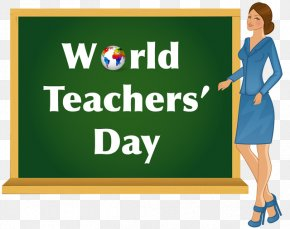 Teachers Day Cliparts - World Teachers Day Student Clip Art PNG