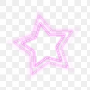 Colorful Light Effect Five-pointed Star - Light PNG