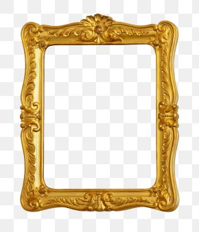Gold Frame - Picture Frame Gold Stock Photography Ornament Film Frame PNG