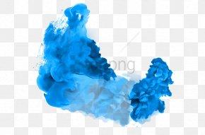 Cloud Electric Blue - Smoke Bomb PNG
