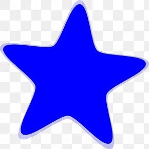 Star Cliparts - Blue Star Pattern PNG