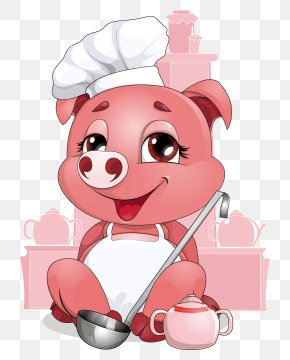 Chef Pig - Domestic Pig Chef PNG