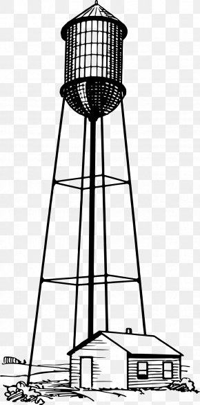 Tall Vector - Eiffel Tower Water Tower Clip Art PNG