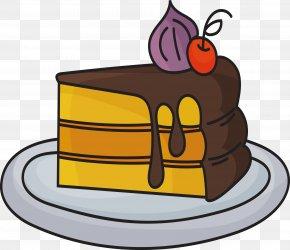 A Plate Of Cake - Torte Chocolate Cake Swiss Roll Egg Tart Dim Sum PNG