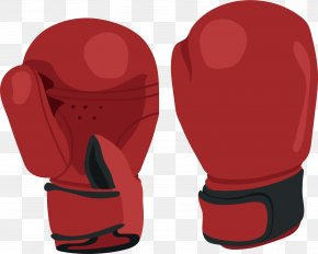 Red Boxing Gloves - Boxing Glove PNG
