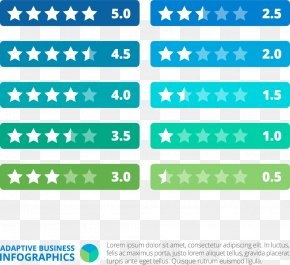 Star Rating Rating Label - Infographic Template PNG