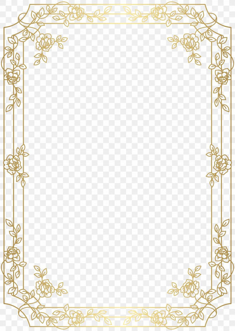 Gold Red Clip Art, PNG, 5668x8000px, Software Framework, Area, Border, Gold, Home Accessories Download Free