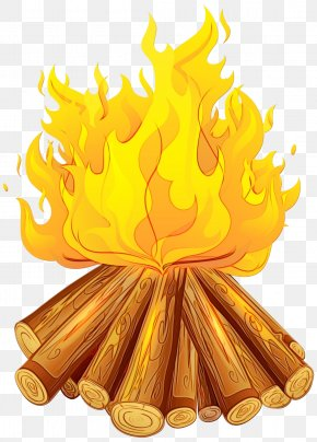 Flame Fire - Yellow Clip Art Fire Flame PNG