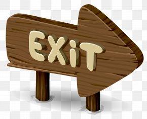 Wood Arrow Sign - Exit Sign Wood Emergency Exit Clip Art PNG