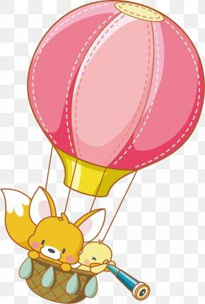 Hot Air Balloon Cartoon Poster Background Material - Cartoon Hot Air Balloon Clip Art PNG