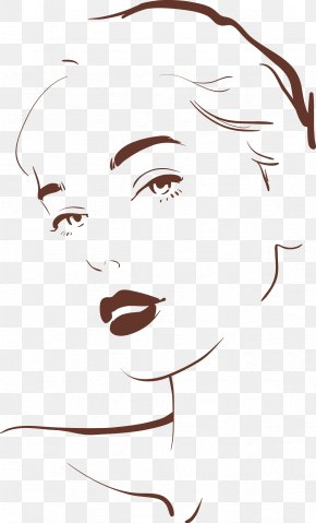 Woman Outline - Drawing Woman Face Illustration PNG