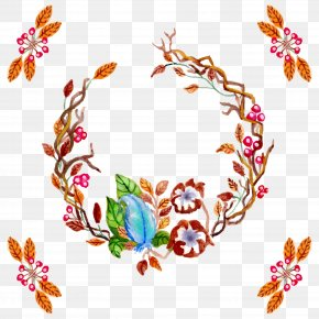 Watercolor Wreath - Wreath Christmas Garland PNG
