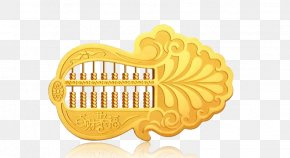 Cabbage Abacus - Colored Gold PNG