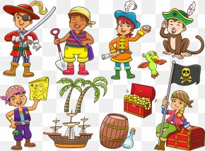 Pirate Dress 11 Models For Children And Decorations - Piracy Cartoon Illustration PNG