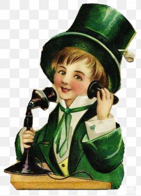 Saint Patrick's Day - Saint Patrick's Day Irish People Holiday Leprechaun Greeting & Note Cards PNG