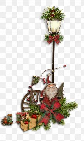 CHRISTMAS LIGHTS - Santa Claus Christmas Lights Street Light Clip Art PNG