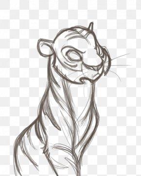 Tiger - Visual Arts Drawing Cartoon Sketch PNG