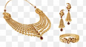 Gold Lace - Jewellery Earring Necklace Chain Gold PNG