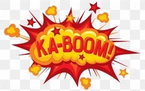 Ka-boom Explosion Letters - Logo Text Brand Popcorn Illustration PNG