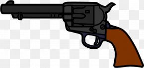 Cartoon Cowboy Gun - Revolver Colt Single Action Army Trigger Firearm Weapon PNG