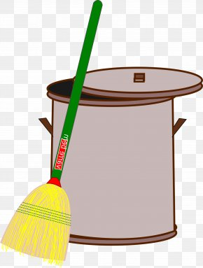 Trash Can - Rubbish Bins & Waste Paper Baskets Broom Tin Can Cleaning PNG