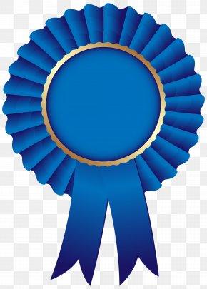 Blue Rosette Ribbon Clip Art Image - Blue Ribbon Rosette Clip Art PNG