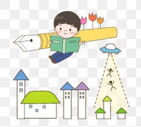 Korea Cartoon Kids - Student Child Learning Cartoon PNG