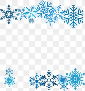 Beautiful Blue Snowflake - Snowflake Icon PNG
