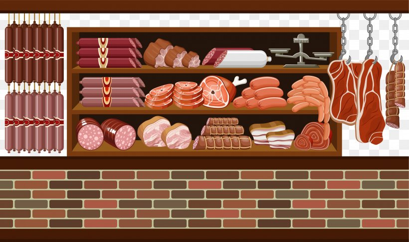 Meat Market Butcher Clip Art, PNG, 2865x1698px, Meat Market, Animal Source Foods, Boucherie, Brick, Butcher Download Free