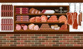 Small Clean Meat Market - Meat Market Butcher Clip Art PNG