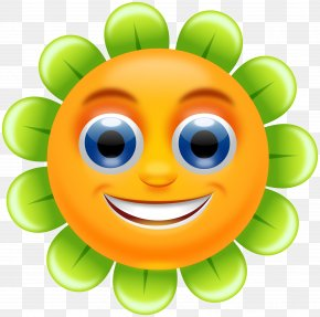 Smiley Flower Cliparts - Smiley Flower Clip Art PNG