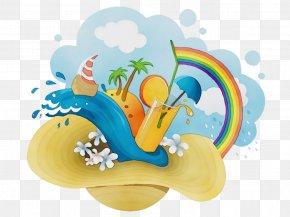 Creativity Summer - Summer Poster Background PNG